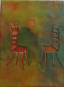 Encaustic Cavo Rilievo Chair-Linda Lenart McNulty