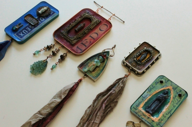 Wearable Encaustic Shrines