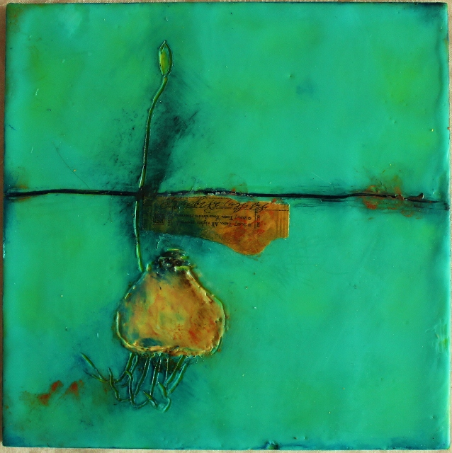 Encaustic Wabi Sabi 1 - Linda Lenart McNulty (638x640)