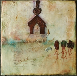 Linda Lenart McNulty- Encaustic Painting- Home I (800x794)