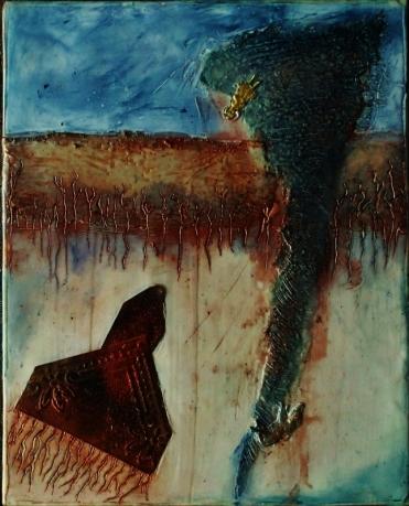 Linda Lenart McNulty-Encaustic Painting-Home II (646x800)