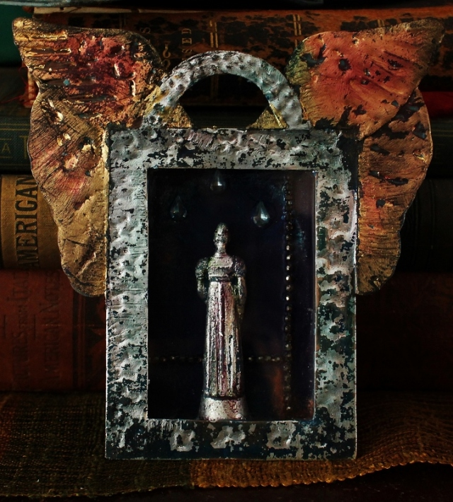 Linda Lenart McNulty-Crying Saint Shrine II (721x800)