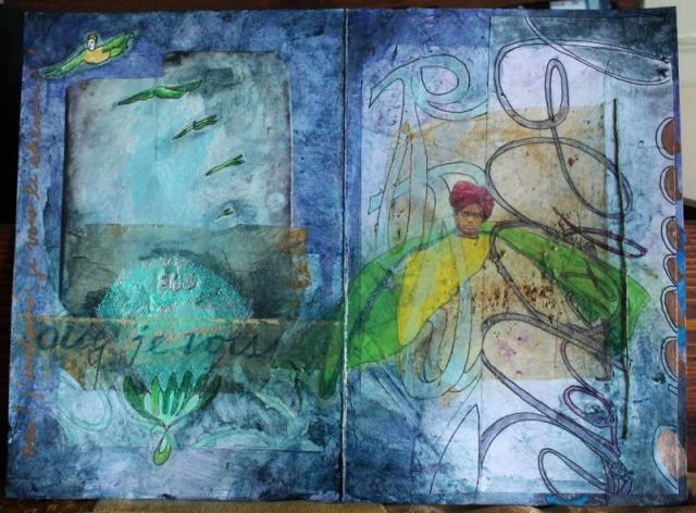 Oui je vois-Art Journal Page-Linda Lenart McNulty (800x591)